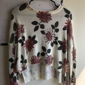 Floral light sweater